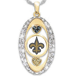 For the Love of the Game New Orleans Saints Necklace