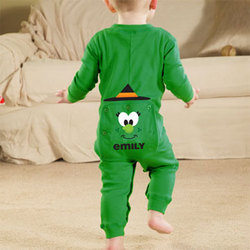 Personalized Infant Halloween Witch Long Johns