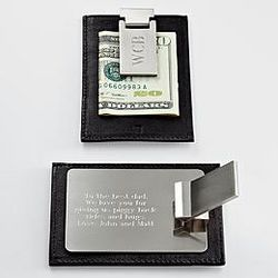 660e0798b077 Leather Money Clip Wallet Duo With Secret Message Card | Stanford ...