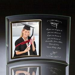 "Graduation 8"" x 10"" Curved Glass Photo Frame"