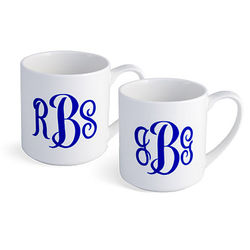 Monogrammed Mug Set