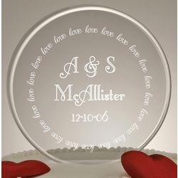 Eternal Love Wedding Cake Topper in Clear Acrylic