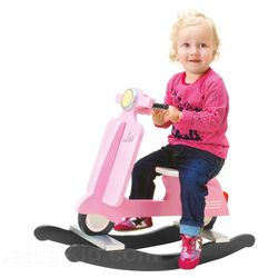 Vespa Scooter Pink Retro Rocker