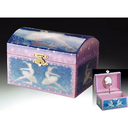 Children's Blue Ballerina Musical Jewelry Box