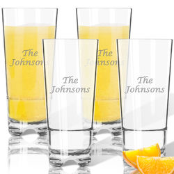 Personalized Clarus Highball Glasses
