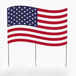 American Flag Yard Decor