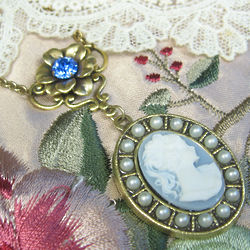 Lady Mary Wedgwood Blue Cameo Necklace