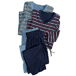 Men's All-Cotton Jersey-Knit Pajamas