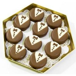 Tuxedo Chocolate Dipped Sugar Cookies