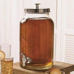 Embossed Glass Beverage Dispenser