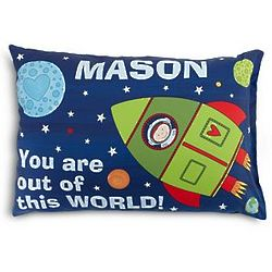 Personalized Kid's Out of This World Space Pillowcase