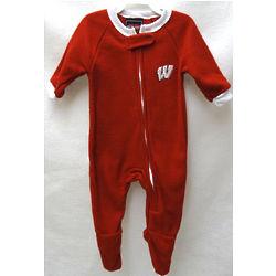 Newborn and Infant's Wisconsin Badgers Blanket Sleeper Bodysuit