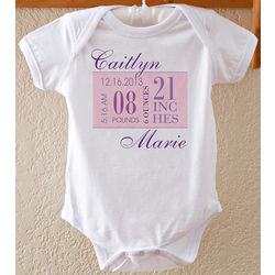 Personalized Birth Date Bodysuit