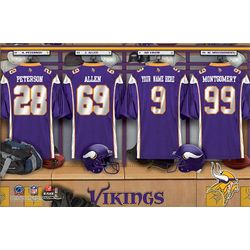 Minnesota Vikings 16x24 Personalized Locker Room Canvas