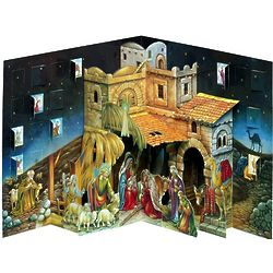 Three-Dimensional Pop-Up Nativity Advent Calendar