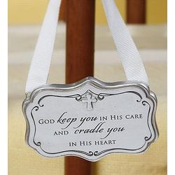 Baptism Engraved Crib Ornament