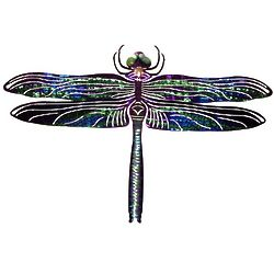 Dragonfly Reflective Metal Wall Sculpture