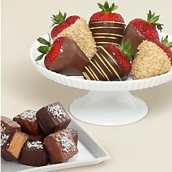 Sea Salted Caramels and Half Dozen Chocolate Strawberries