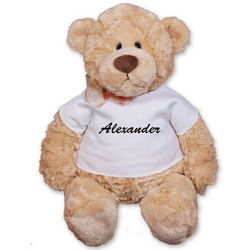 Personalized Any Name T-Shirt Teddy Bear