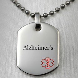 Alzheimer's Pendant Necklace