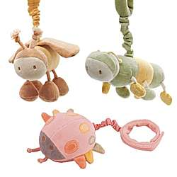 Organic Plush Hanging Bugs with Chimes