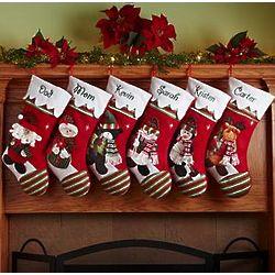 Personalized Winter Wonderland Christmas Stocking