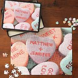 Conversation Candy Hearts Personalized Valentine Puzzle