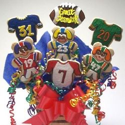 Go Team Football Cookie Bouquet