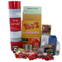 1972 Time Capsule Retro 40th Birthday Gift Basket