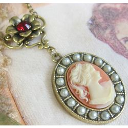 Lady Mary Carnelian Cameo Necklace