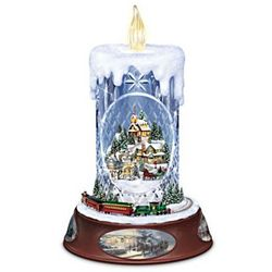 Thomas Kinkade Musical Tabletop Centerpiece Crystal Candle