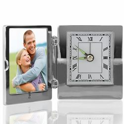 Keep Me in Your Heart Picture Frame with Clock