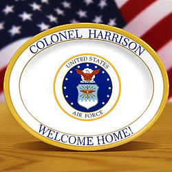 Personalized Air Force Oval Platter