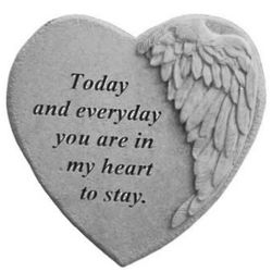 You Are In My Heart Winged Heart Stone