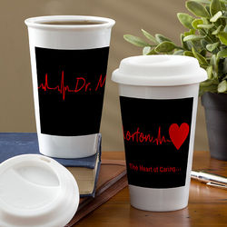 The Heart of Caring Personalized Travel Tumbler