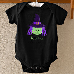 Personalized Lil' Witch Infant Baby Bodysuit