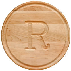 Personalized Small Round Wood Cutting Board