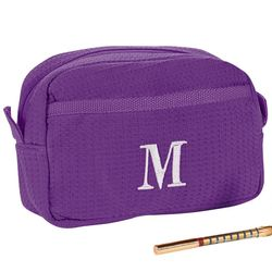 Personalized Purple Cosmetic Bag