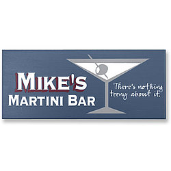Personalized Martini Bar Sign