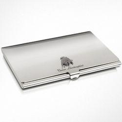 Silver Tonino Lamborghini Business Card Holder
