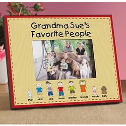 Personalized Family Characters Frame