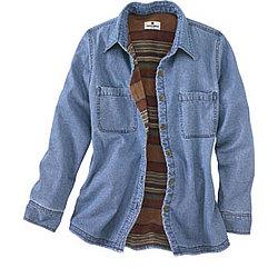 Women's Fleece Lined Denim Shirt Jac