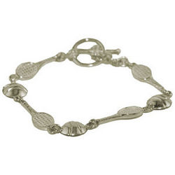 Tennis Racquet and Ball Bracelet