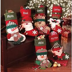 Personalized Big Face Plush Christmas Stockings