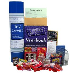1962 Time Capsule Retro 50th Birthday Gift Basket