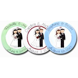 Personalized Happy Couple Wedding Plate