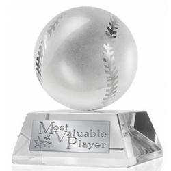 MVP Crystal Baseball Clock