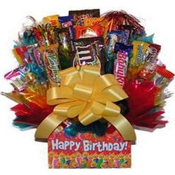 Happy Birthday Candy Bouquet Box