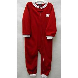 Toddler's Wisconsin Badgers Blanket Sleeper Bodysuit