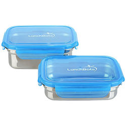 2 Stainless Steel Leak Proof Lunchboxes